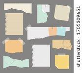 torn paper set vector... | Shutterstock .eps vector #1705309651