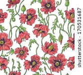 hand drawn stylized poppy... | Shutterstock .eps vector #170531687