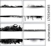set of grunge background  | Shutterstock .eps vector #170534585