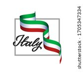 italy patriotic concept with... | Shutterstock .eps vector #1705347334