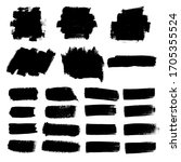 vector set of grunge artistic... | Shutterstock .eps vector #1705355524
