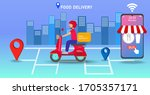 fast and free delivery by...   Shutterstock .eps vector #1705357171