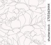 seamless pattern of flowers one ... | Shutterstock .eps vector #1705363444