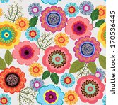 seamless pattern with flower  | Shutterstock .eps vector #170536445