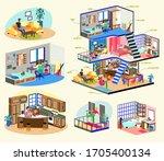 quarantine  stay home...   Shutterstock .eps vector #1705400134