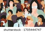 people in the coronavirus...   Shutterstock .eps vector #1705444747