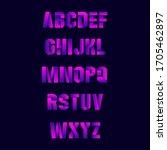 bold gradient letters set. on...   Shutterstock .eps vector #1705462897