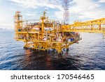 oil platform yellow color in... | Shutterstock . vector #170546465