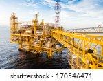 oil platform yellow color in... | Shutterstock . vector #170546471