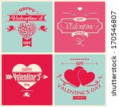 valentine's day greeting card...   Shutterstock .eps vector #170546807