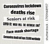 coronavirus pandemic crisis... | Shutterstock .eps vector #1705468957
