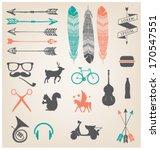 urban icons   symbols. hipster... | Shutterstock .eps vector #170547551