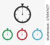 set of clean vector color... | Shutterstock .eps vector #170547677