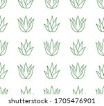 aloe vera background  agave... | Shutterstock .eps vector #1705476901