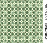 seamless green traditional... | Shutterstock . vector #1705478107