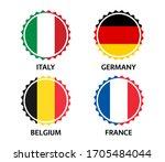 set of four italian  german ... | Shutterstock .eps vector #1705484044