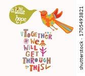 bird of hope corona virus... | Shutterstock .eps vector #1705493821