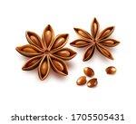 anise stars isolated on white...   Shutterstock .eps vector #1705505431