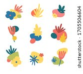 set of modern abstract... | Shutterstock .eps vector #1705506604