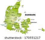map of daenemark as an overview ... | Shutterstock . vector #170551217