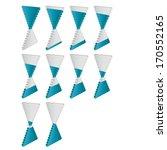 modern 3d vector graph set | Shutterstock .eps vector #170552165