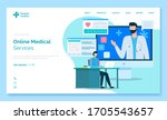 medical app web landing page... | Shutterstock .eps vector #1705543657