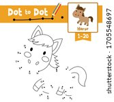 dot to dot educational game and ... | Shutterstock .eps vector #1705548697