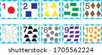 cards with numbers from 1 to 10 ... | Shutterstock .eps vector #1705562224