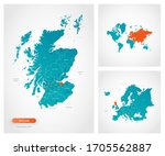 editable template of map of... | Shutterstock .eps vector #1705562887
