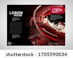 printing magazine with 3d... | Shutterstock .eps vector #1705590034