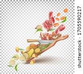 vector dynamic 3d illustration... | Shutterstock .eps vector #1705590217