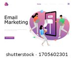 email marketing vector...