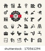 web icon set   building ... | Shutterstock .eps vector #170561294