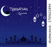Ramadan Kareem Vector Card.for...
