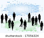 illustration of business people | Shutterstock .eps vector #17056324