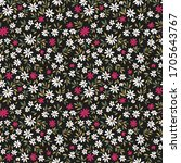 cute floral pattern in the... | Shutterstock .eps vector #1705643767