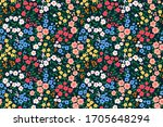 floral pattern. pretty flowers... | Shutterstock .eps vector #1705648294