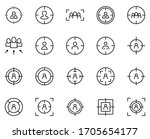 personal targeting icon set.... | Shutterstock .eps vector #1705654177