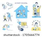 infectious disease preventive... | Shutterstock . vector #1705666774