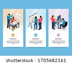 architect vertical banners with ...   Shutterstock .eps vector #1705682161