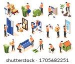 spring renovation isometric... | Shutterstock .eps vector #1705682251