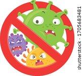 character virus bacteria and... | Shutterstock .eps vector #1705683481