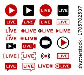 live streaming icons....   Shutterstock .eps vector #1705702537