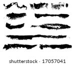 watercolor grungy brush strokes ... | Shutterstock .eps vector #17057041