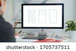 web designer at work. graphic...