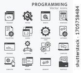 programming icon set. software  ...   Shutterstock .eps vector #1705758484