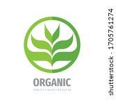 organic natural product logo... | Shutterstock .eps vector #1705761274