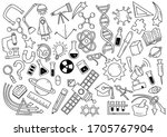 vector hand drawn science theme ... | Shutterstock .eps vector #1705767904