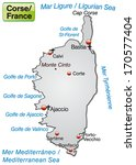 map of corsica as an overview... | Shutterstock . vector #170577404