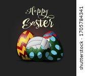 happy easter. easter design... | Shutterstock .eps vector #1705784341